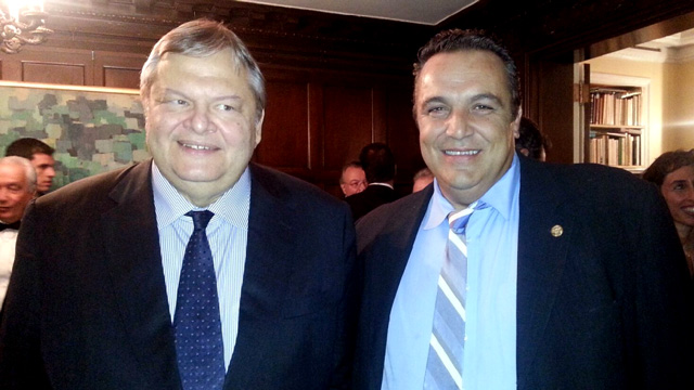 Philadelphia Federation President Karadonis meets with Greece's Deputy PM Venizelos