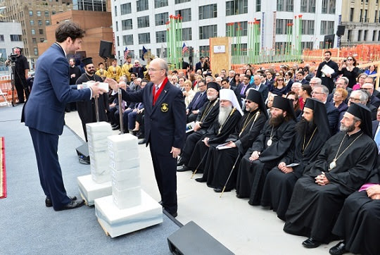 AHEPA at Ground Blessing Ceremony for Saint Nicholas National Shrine