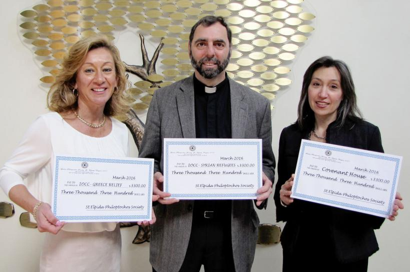Holy Trinity Philoptochos Donates $10,000 to Local and International Charities