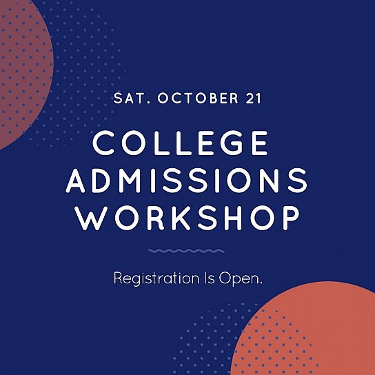 This October: College Admissions Workshop at St. Luke Church