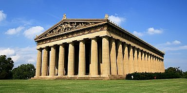 The Parthenon in Centennial Park, in Nashville, Tennessee