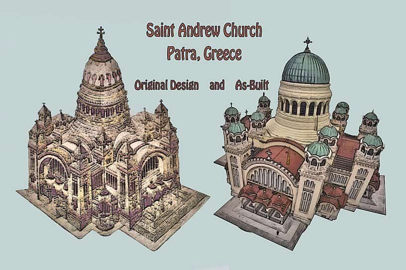 Building the Church of Saint Andrew, Patra, Greece