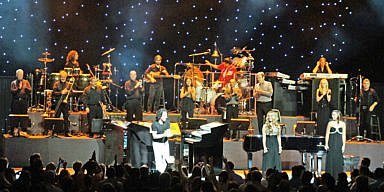 Yanni and his band at the FIlene Center of the Wolf Trap National Park for the Performing Arts, in Vienna, Virginia, US, 2012