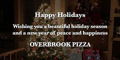 Season's Greetings from Overbrook Pizza