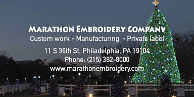 Season's Greetings from the Marathon Embroidery Company