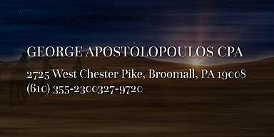 Season's Greetings from George Apostolopoulos CPA