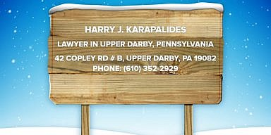 Season's Greetings from Harry Karapalides' Law Offices