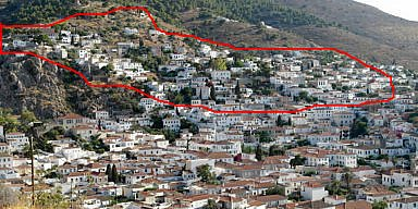 Τhe area of the first residential core of Hydra