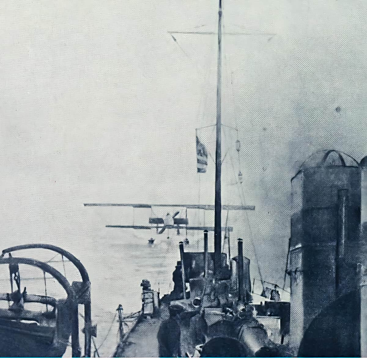 The Farman MF.7 of Moutoussis and Moraitinis collected by Velos after their Dardanelles mission, 1913