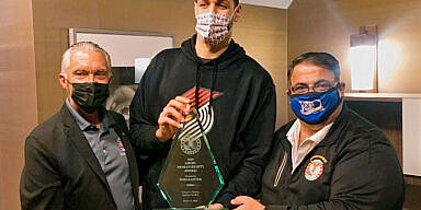 AHEPA Presents NBA Veteran Kanter with Human Rights Award
