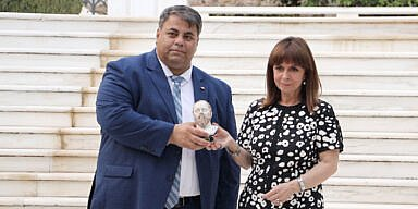 AHEPA honours the President of the Hellenic Republic